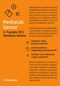 medialab senior ulotka
